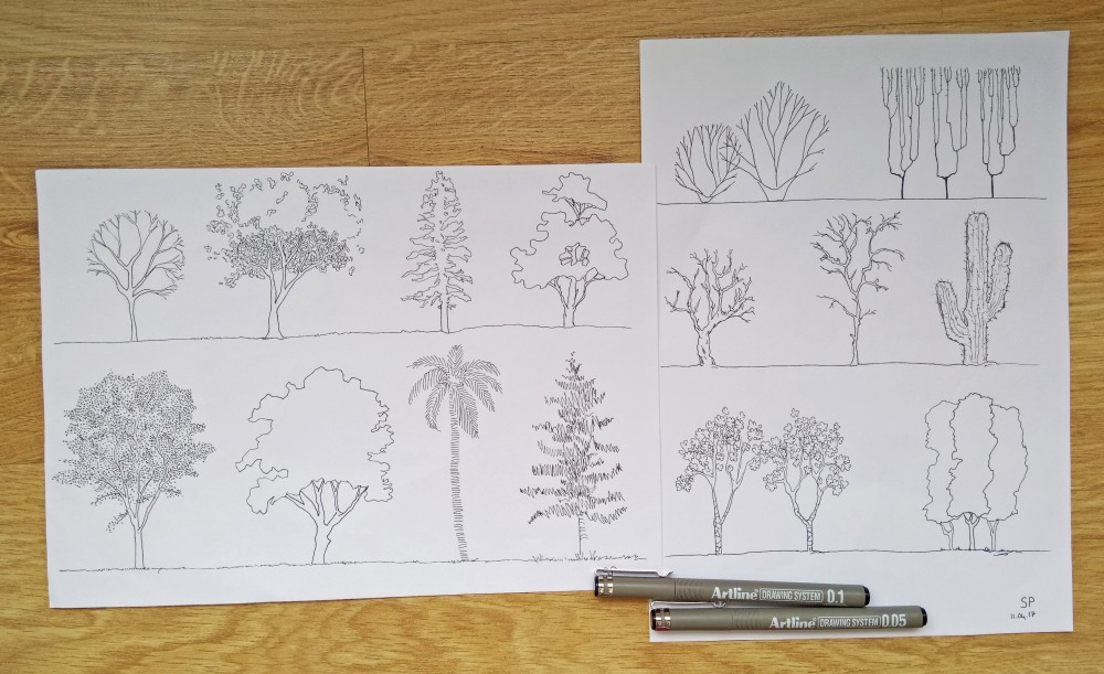 architecture tree drawings