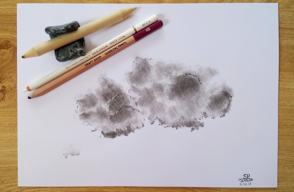 charcoal cloud drawing