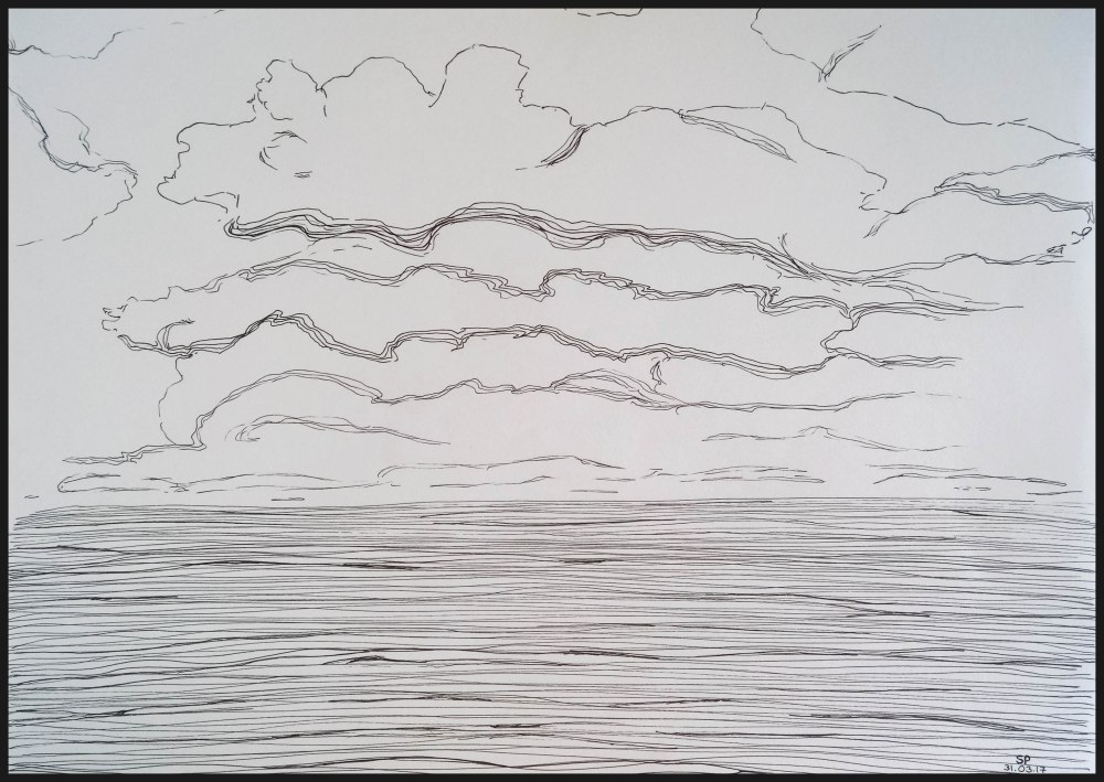 clouds and sea drawing sp
