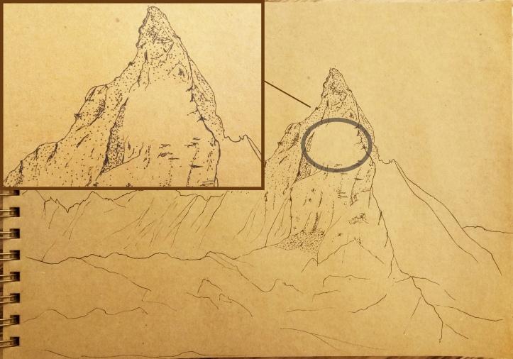 mountain drawing 2