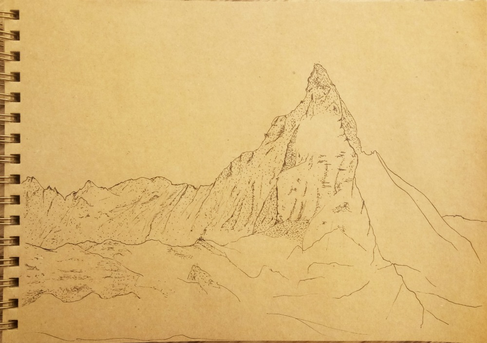 mountain drawing 3