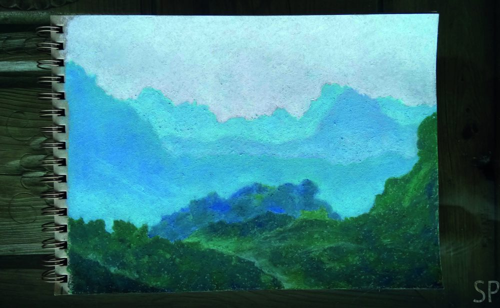 pastel oil mountain chains drawing sp.jpg