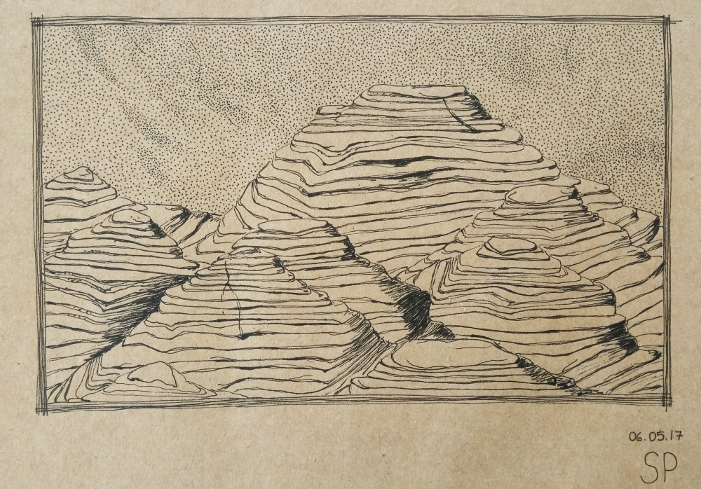pancake rock drawing
