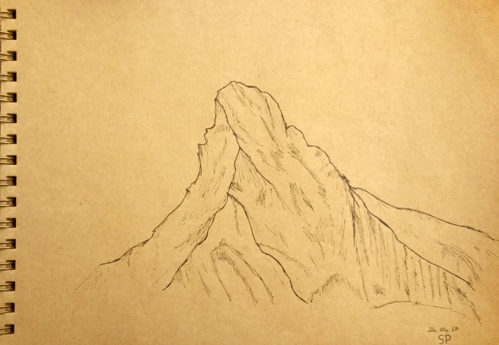simple mountain drawing
