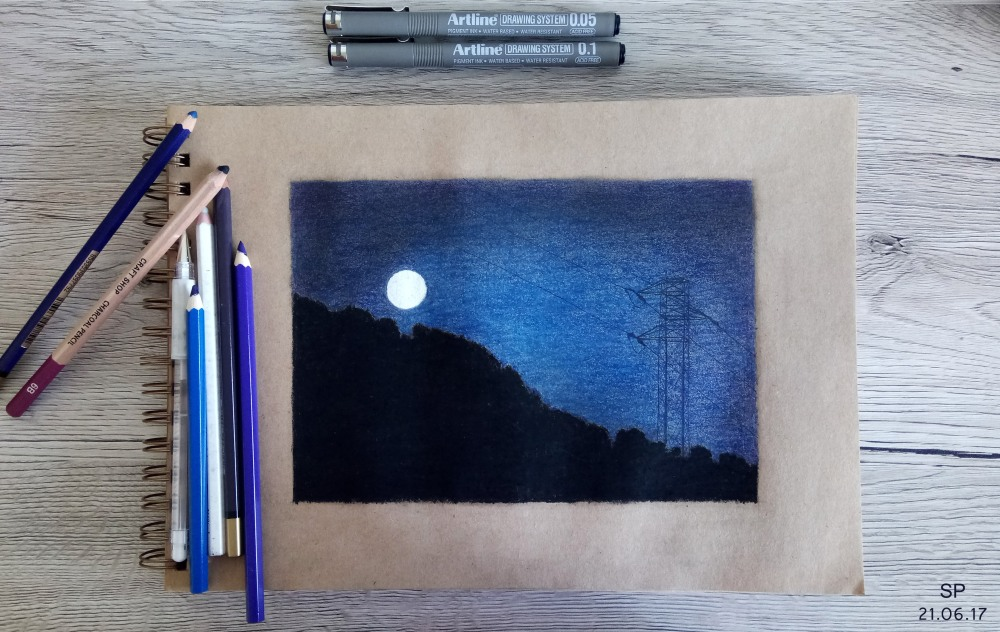 charging the moon drawing 3