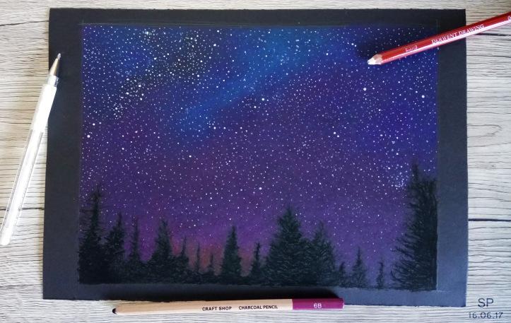 starry night drawing