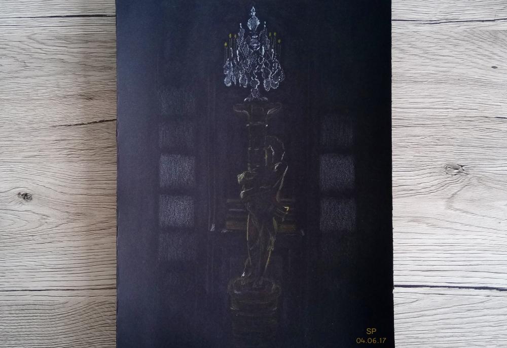 statue drawing paris