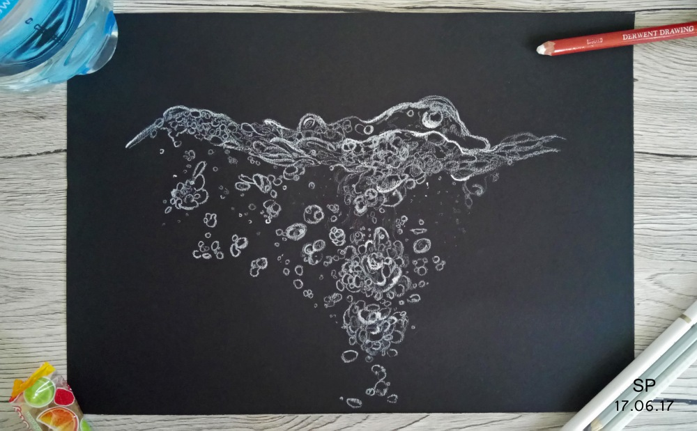 water bubble drawing