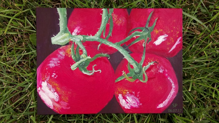 Fragrant tomatoes canvas oil painting.jpg