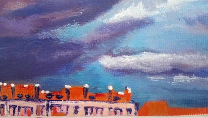 pretending like storm oil painting detail 1