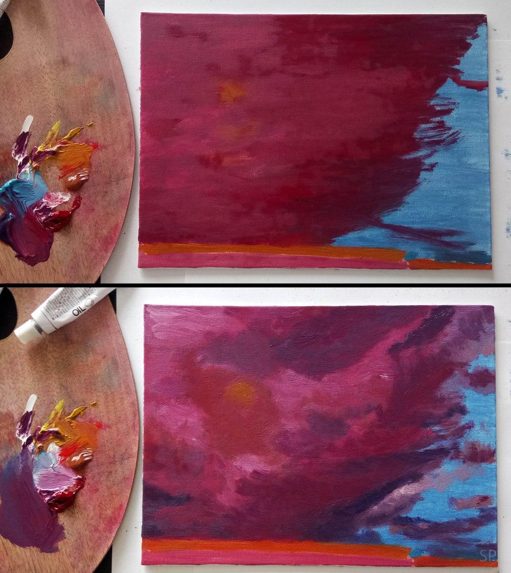 pretending like storm oil painting steps