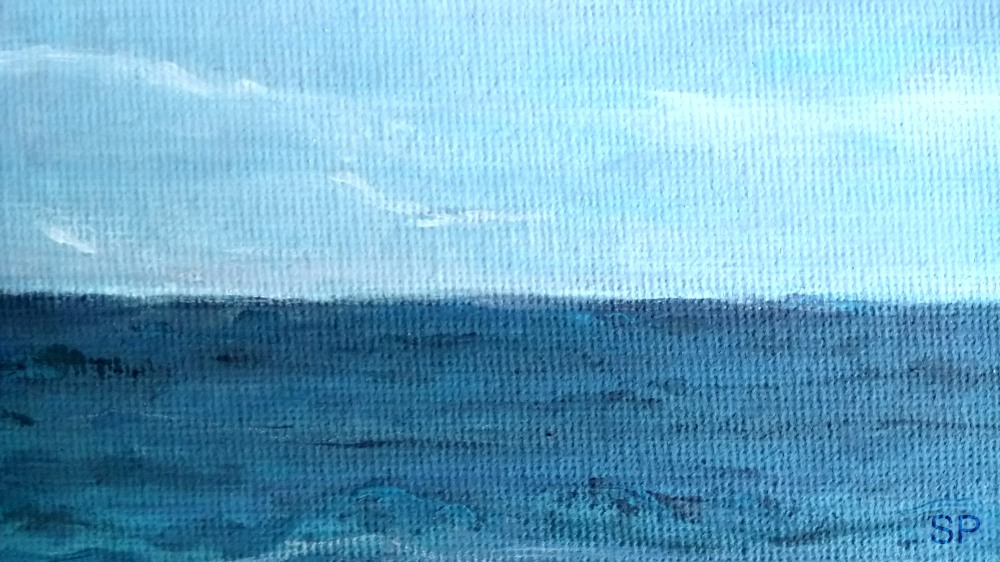 sea and waves acrylic detail 1