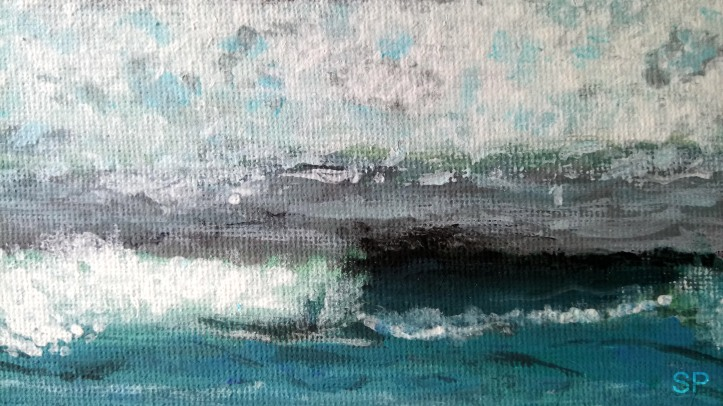 sea and waves acrylic detail 2