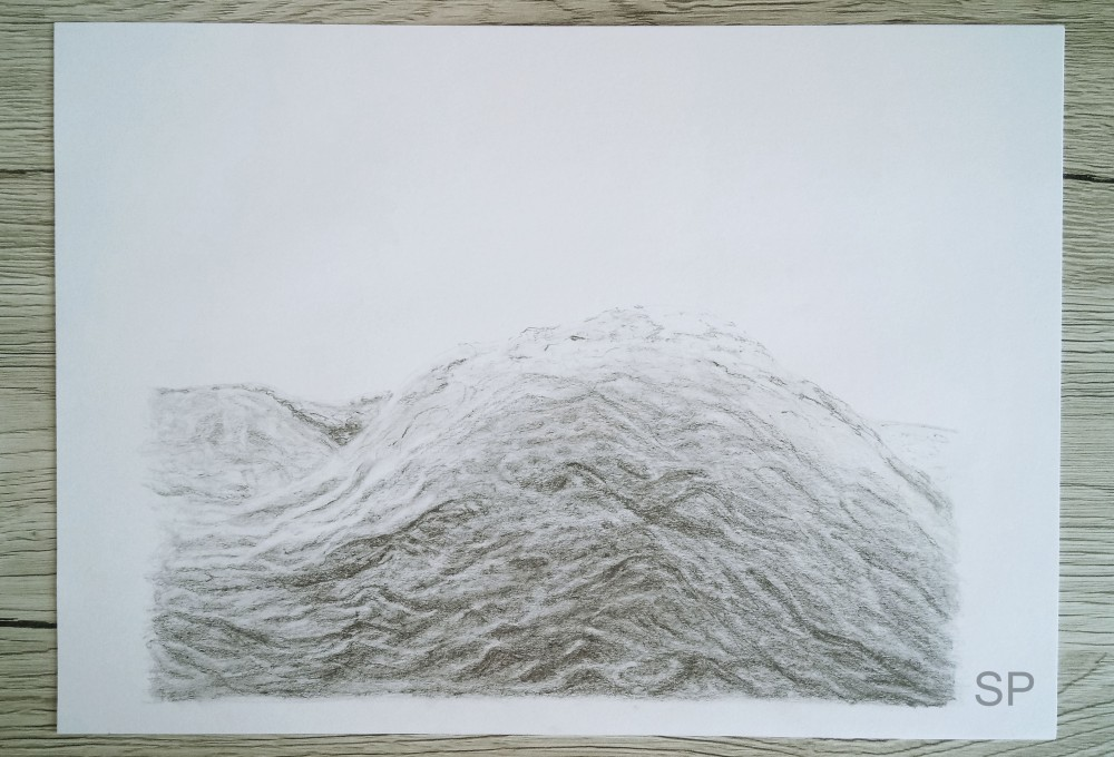 wave and dark clouds drawing steps 3