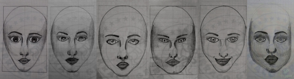 2014 november face drawings
