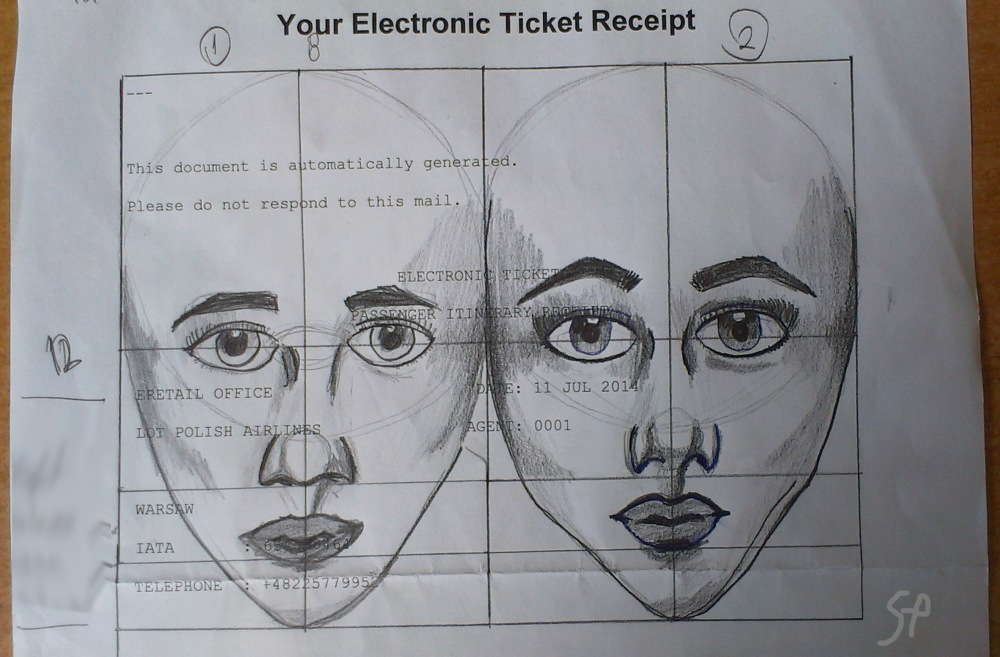 2014 october ticket receipt face drawing