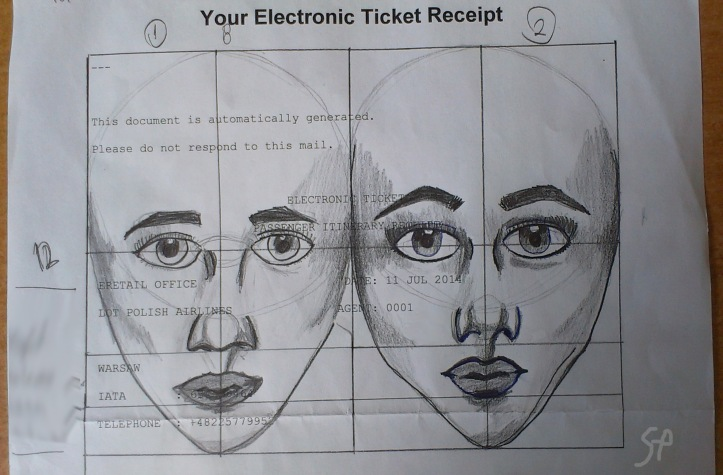 2014 october ticket receipt face drawing
