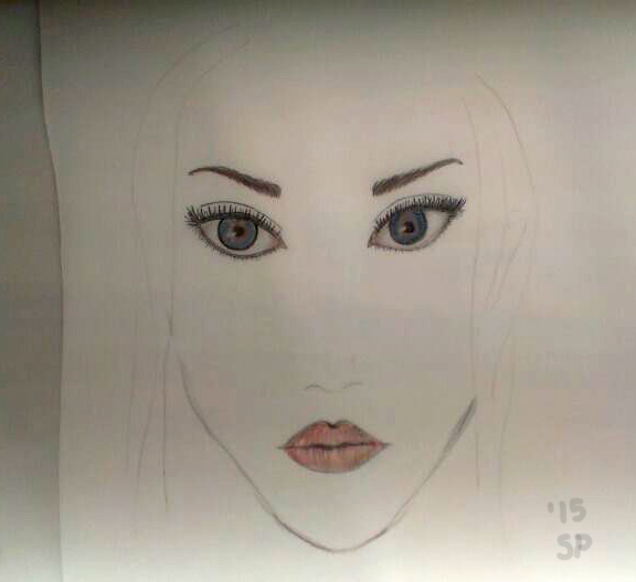 2015 february face drawing