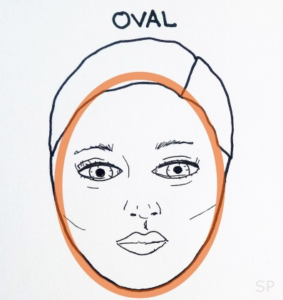 1 oval face shape