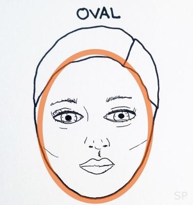 1 oval face shape