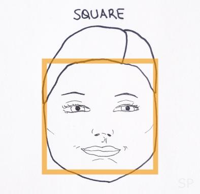4 square face shape