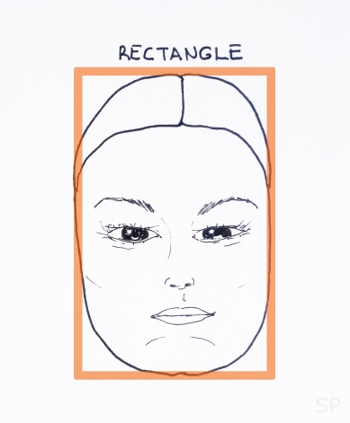 8 rectangle face shape