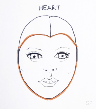 9 heart face shape