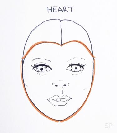 9 heart face shape