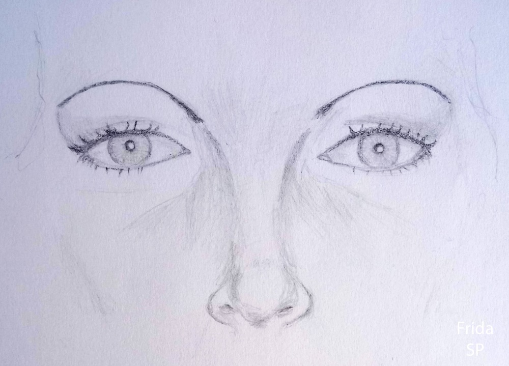 abba frida eye drawing