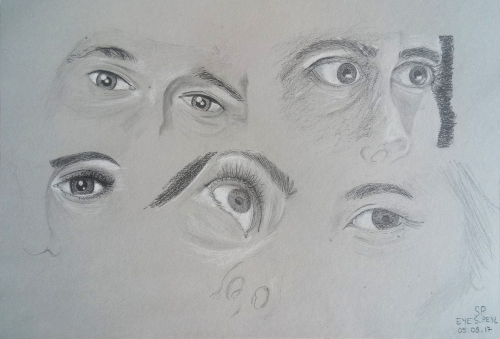 different angles eye drawings