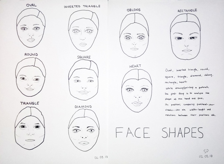 drawing of face shapes 3