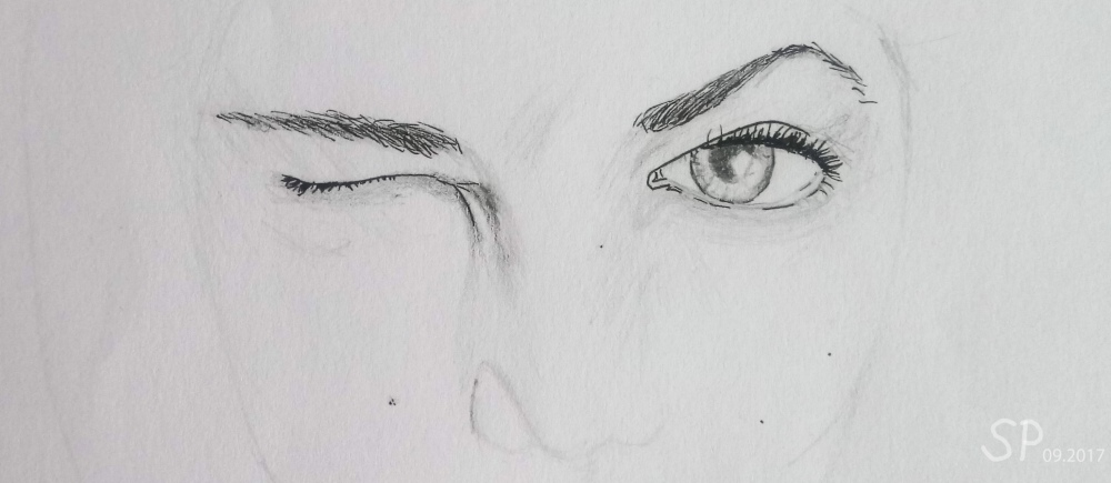 eye and eyebrow drawing karlie kloss