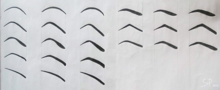 eyebrow drawings 2015