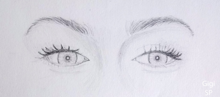 gigi hadid eye drawing
