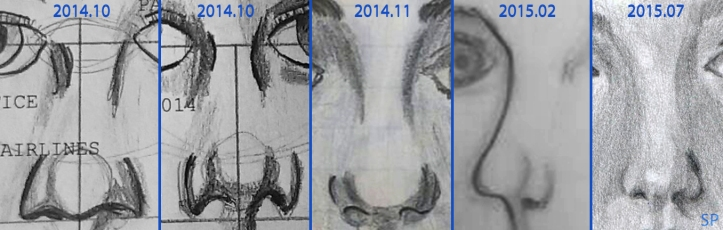 nose drawing progress 2