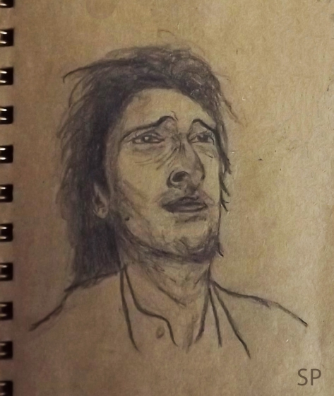 facial expressions adrien brody drawing 3