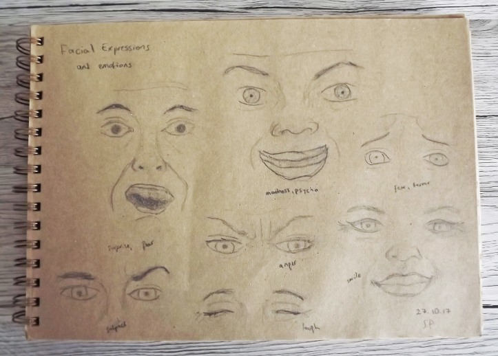 facial expressions sketch 3