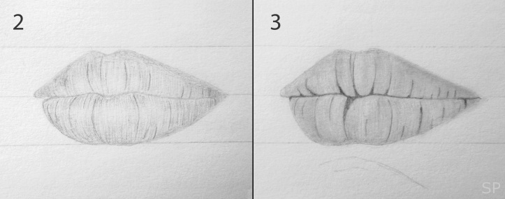 lip drawing steps 2