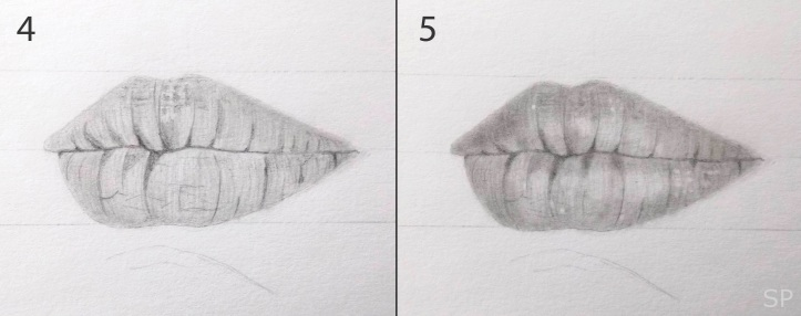 lip drawing steps 3
