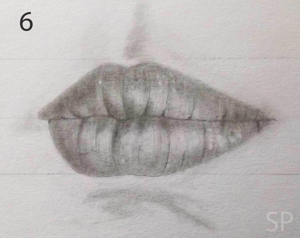 lip drawing steps 4