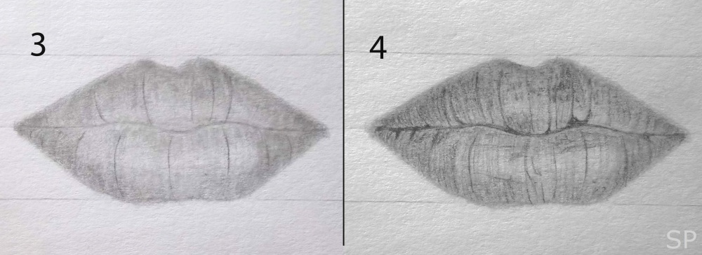 lip front drawing steps 2