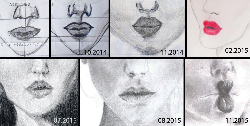 old lip drawings