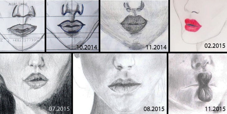 old lip drawings
