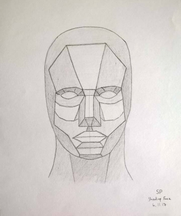 face geometric form shading