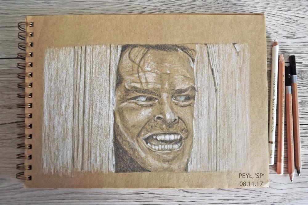 the shining jack nicholson drawing 4