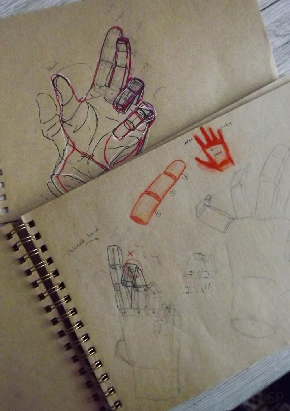 hand wrong sketches