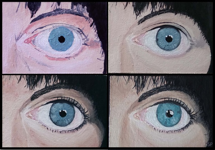 right eye painting steps