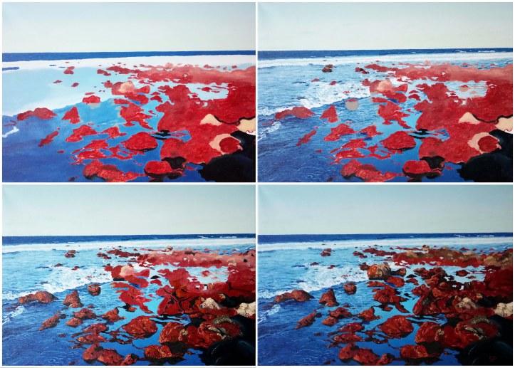 invasion oil paint process