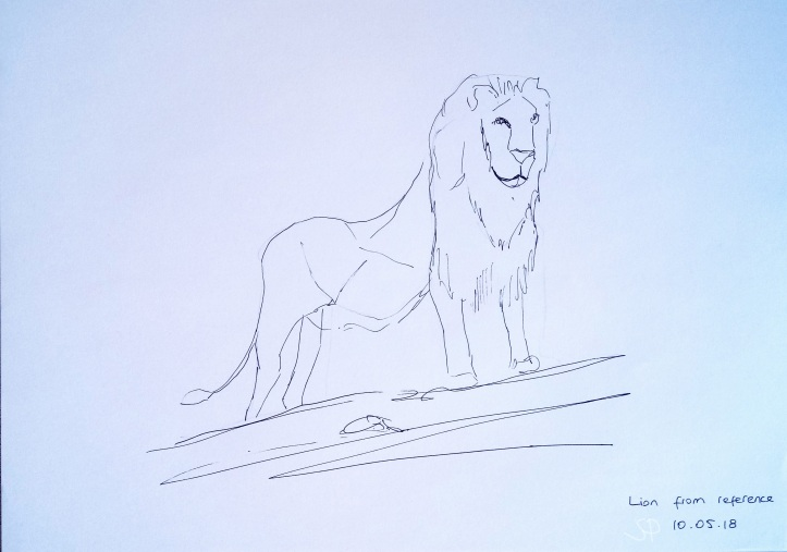 lion from reference