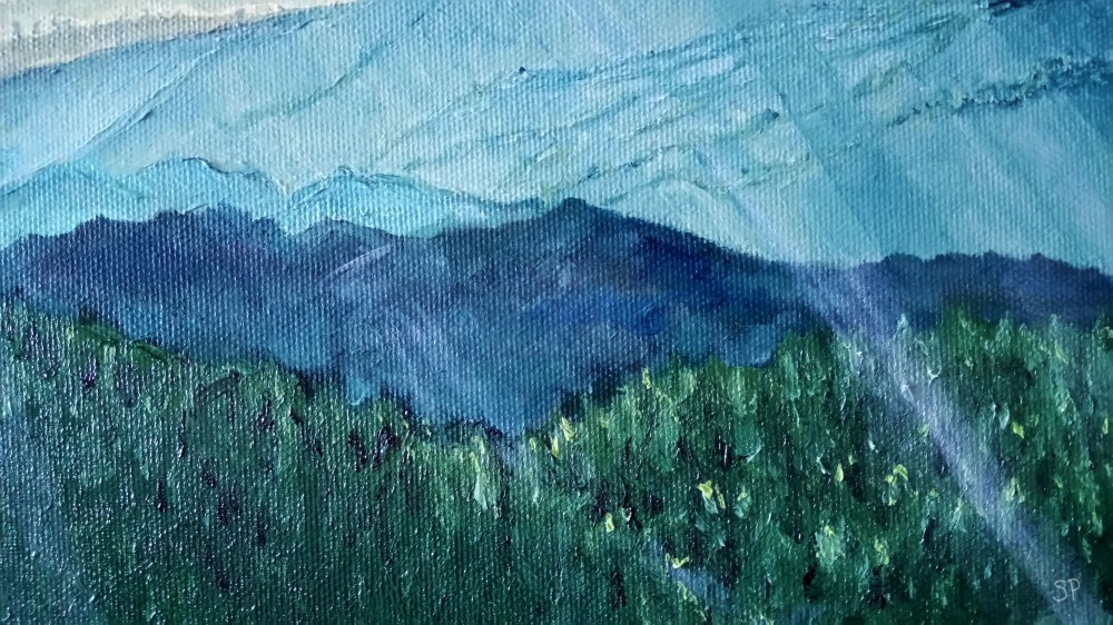 mountain chain forest detail 1